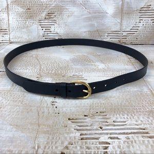 Lands' End Accessories - Lands End classic navy leather belt size XL 18/20